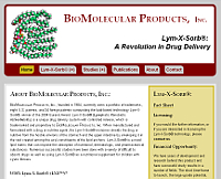 BioMolecular Products website snapshot