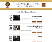 Belleville Roots Music Series website snapshot