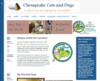 Chesapeake Cats and Dogs website snapshot