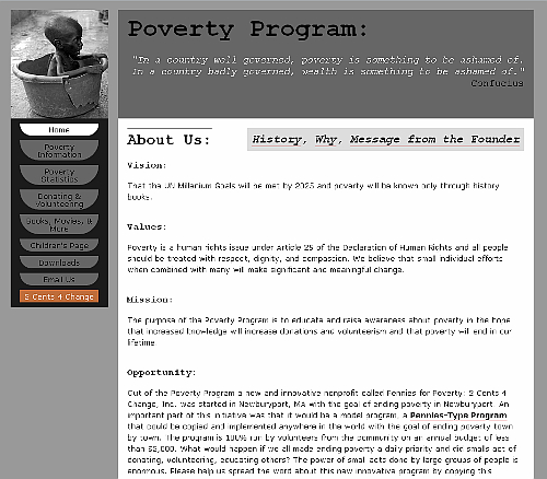 Poverty Program.com website snapshot